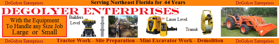 Degolyer Enterprises - Tractor Work - Site Preparation - Mini Excavator Work - Demolition